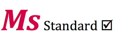 Ms Standard logo with checkbox