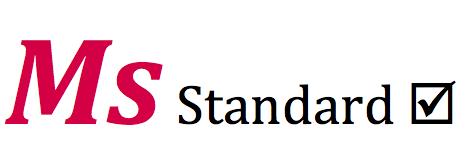 Ms Standard logo with checkbox